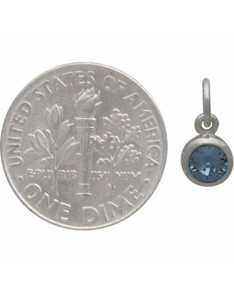 Sterling Silver Swarovski Birthstone March Charm