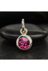 Sterling Silver Swarovski Birthstone October Charm