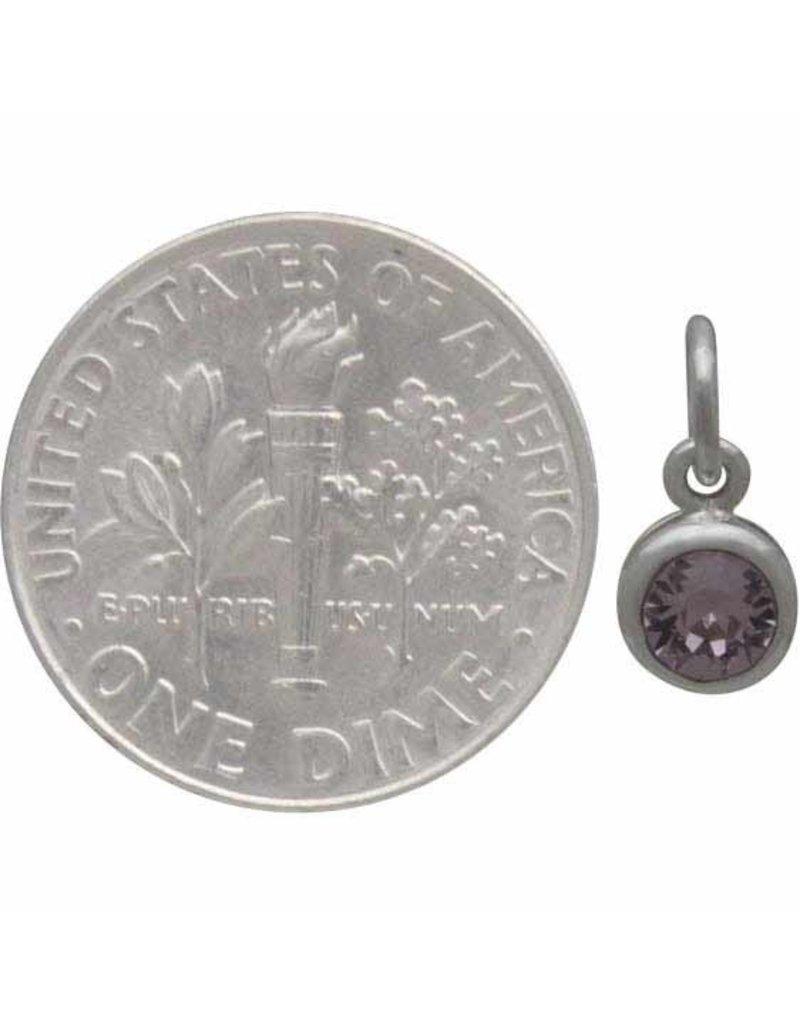 Sterling Silver Swarovski Birthstone June Charm