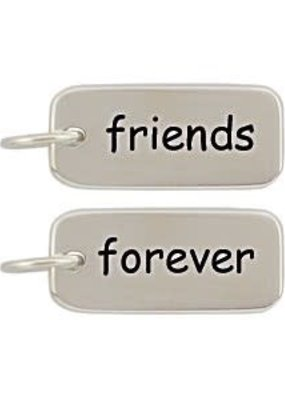 Sterling Silver Friends Forever Charm