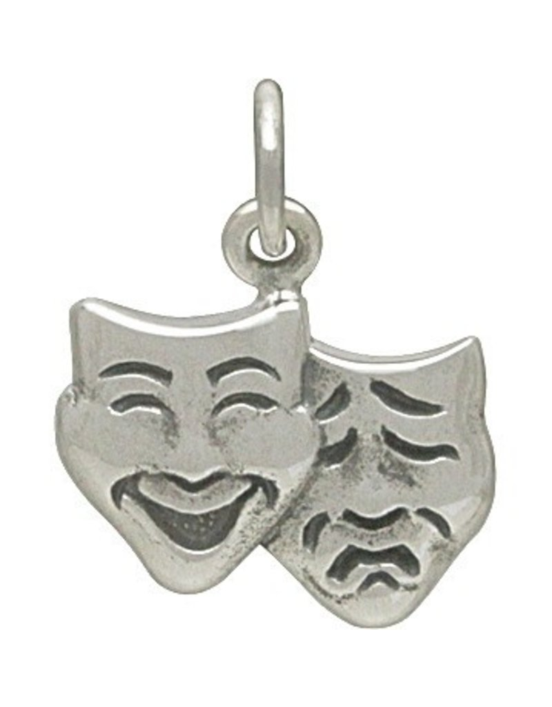 Sterling Silver Theatre Mask Charm