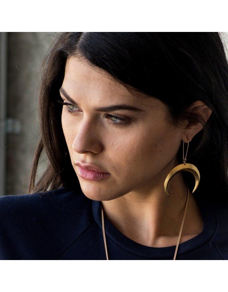 Larissa Loden Brass Eclipse Earrings