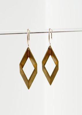 Larissa Loden Open Brass Diamond Earrings