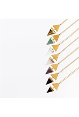 Larissa Loden Golden Brass Green Aventurine Echo Necklace