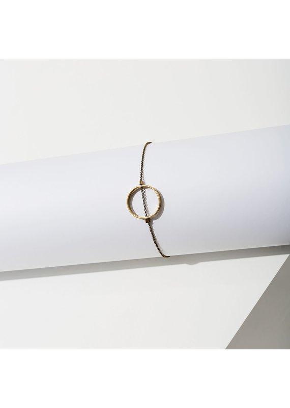 Larissa Loden Brass Small Horizon Circle Bracelet