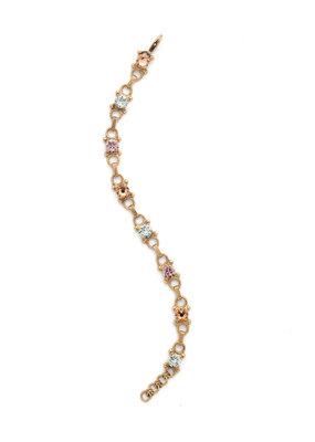 Sorrelli Mini Eyelet Line Bracelet in Rustic Bloom