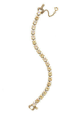 Sorrelli Repeating Round Crystal Line Bracelet in Crystal Champagne