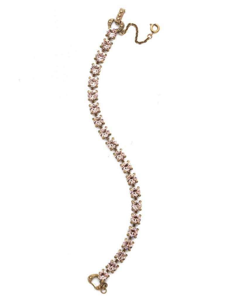 Sorrelli Repeating Round Crystal Line Bracelet in Vintage Rose