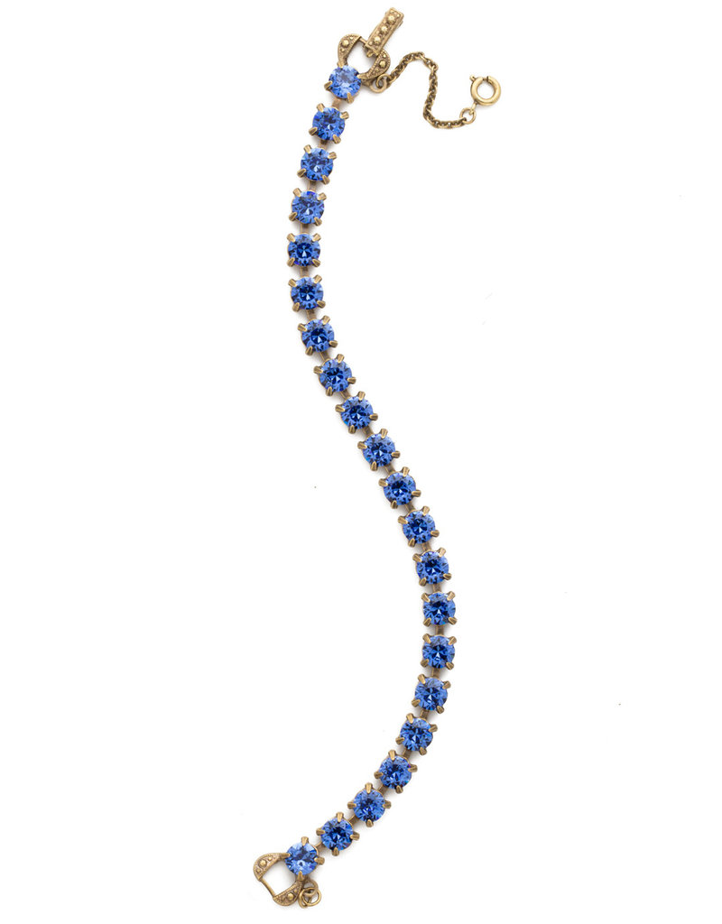 Sorrelli Repeating Round Crystal Line Bracelet in Sapphire