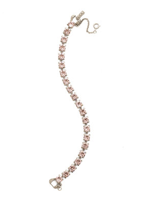 Sorrelli Repeating Round Crystal Line Bracelet in Vintage Rose