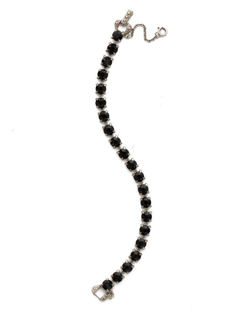Sorrelli Repeating Round Crystal Line Bracelet in Jet