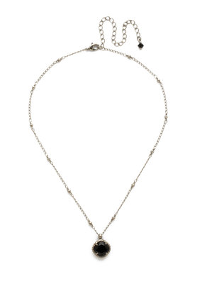 Sorrelli Cushion-Cut Solitaire Necklace in Jet