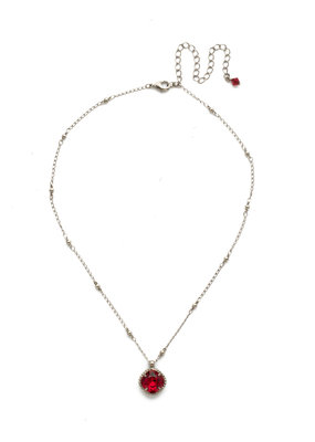 Sorrelli Cushion-Cut Solitaire Necklace in Siam