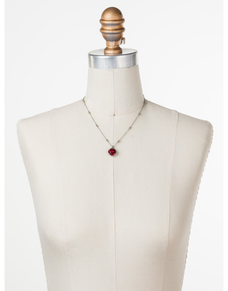 Sorrelli Cushion-Cut Solitaire Necklace in Siam