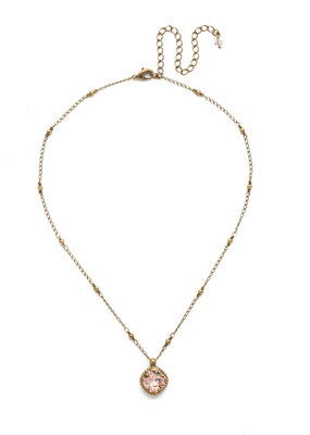 Sorrelli Cushion-Cut Solitaire Necklace in Vintage Rose