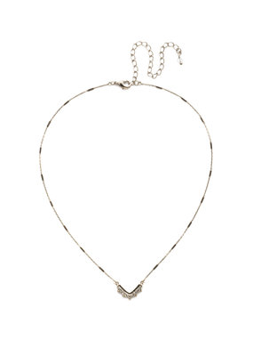 Sorrelli Jagged Chevron Necklace in Clear Crystal