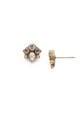 Sorrelli Buzzworthy Stud Earring in White Magnolia