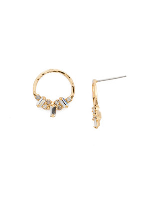 Sorrelli Crystal Mini Haute Hammered Post Earring