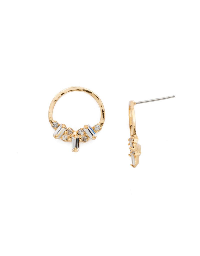 Sorrelli Crystal Mini Haute Hammered Post Earring