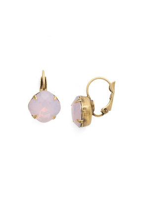 Sorrelli Cushion Cut French Wire Earrings - Sorrelli Essentials in Antique Gold Rose Water