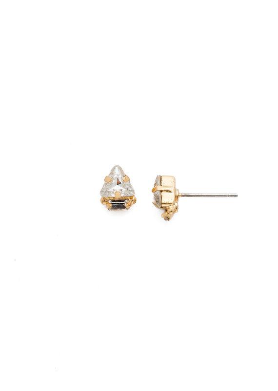 Sorrelli Tri-ed and True Crystal Earring in Clear Crystal