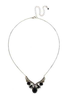 Sorrelli Peared Up Necklace in Black Onyx