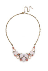 Sorrelli Nested Pear Statement Necklace in Pink Peony