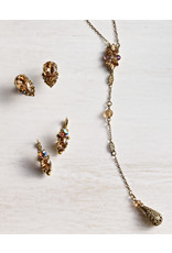 Sorrelli Crystal Teardrop and Cluster Post Earring in Neutral Territory