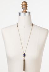 Sorrelli Camellia Tassle Necklace in Jewel Tone
