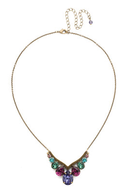 Sorrelli Peared Up Necklace in Jewel Tone