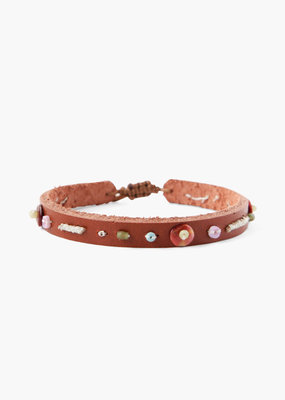 CHAN LUU Saddle Beaded Pull-Tie Bracelet