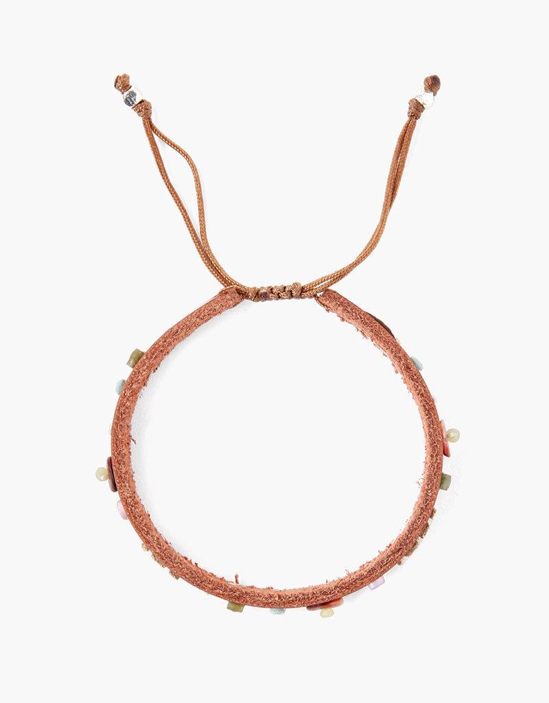 CHAN LUU Saddle Beaded Pull-Tie Bracelet
