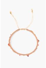 CHAN LUU Buckskin Beaded Pull-Tie Bracelet