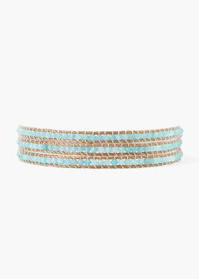 CHAN LUU Amazonite Three Wrap Bracelet