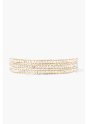 CHAN LUU Mystic Labradorite Three Wrap Bracelet