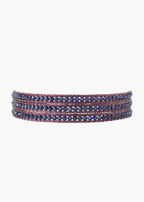 CHAN LUU Lapis Three Wrap Bracelet