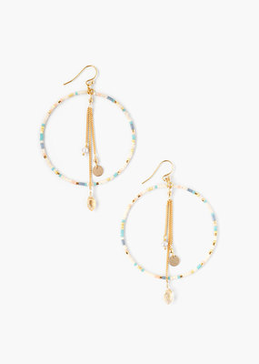 CHAN LUU Salmon Mix Hoop Earrings
