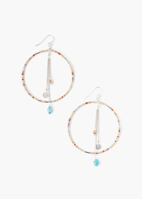 CHAN LUU Seafoam Mix Hoop Earrings