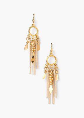 CHAN LUU Gold Multi Drop Earrings