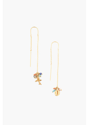 CHAN LUU Multi Mix Threader Earrings