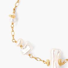 CHAN LUU White Keshi  Pearl Mix Bracelet