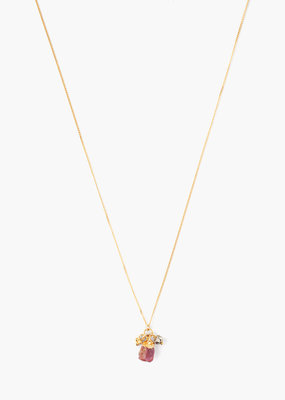 CHAN LUU Ruby Rough Cut Necklace
