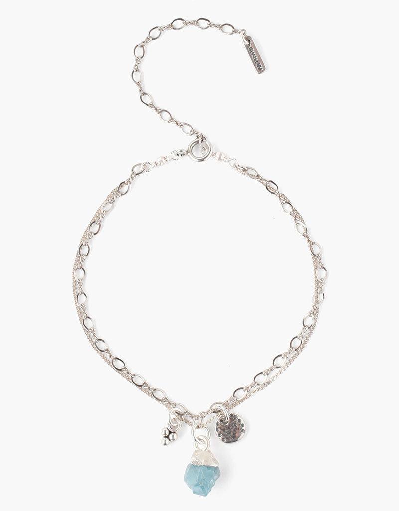 CHAN LUU Green Apatite Rough Cut Bracelet