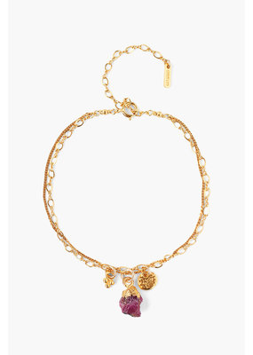CHAN LUU Ruby Rough Cut Bracelet