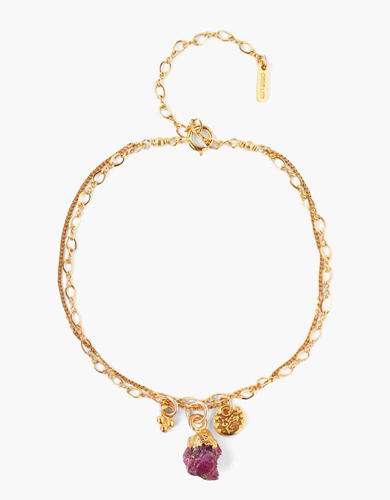 CHAN LUU Ruby Rough Cut Bracelet