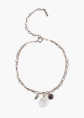 CHAN LUU Moonstone Rough Cut Bracelet