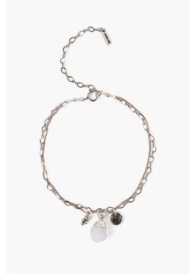 CHAN LUU Moonstone Rough Cut Bracelet