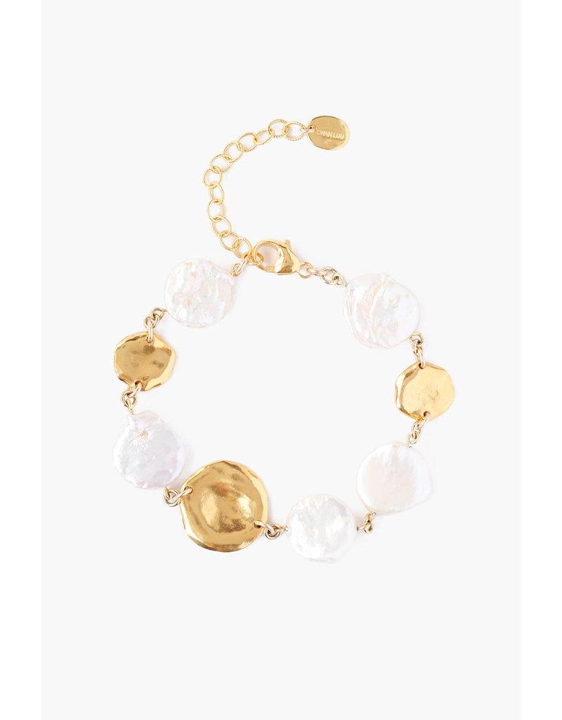 CHAN LUU White Keshi Pearl Bracelet
