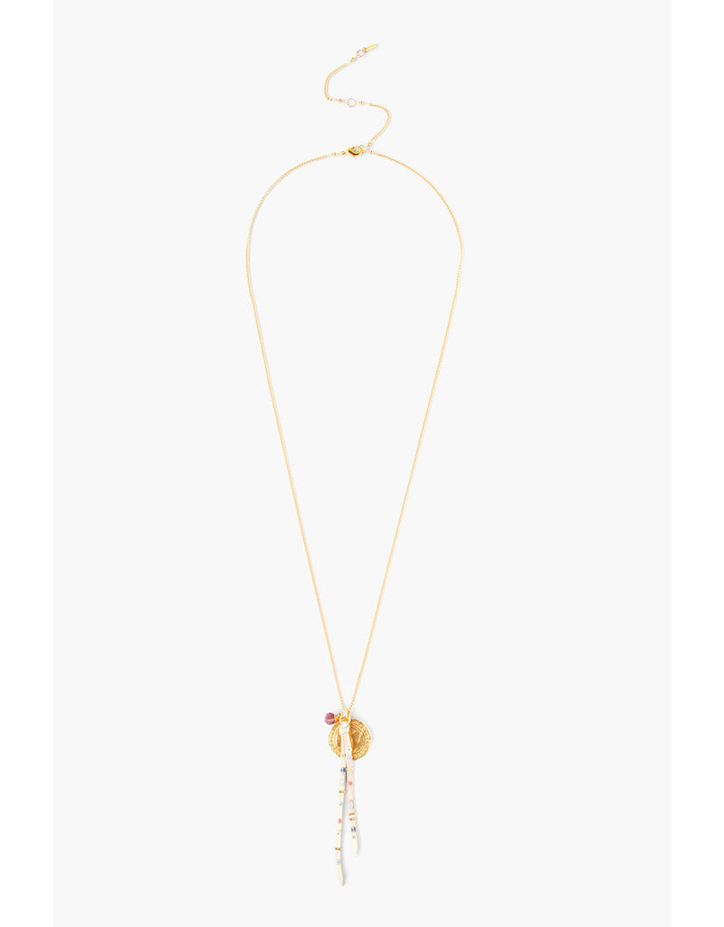 CHAN LUU Ruby Mix Coin Charm Necklace