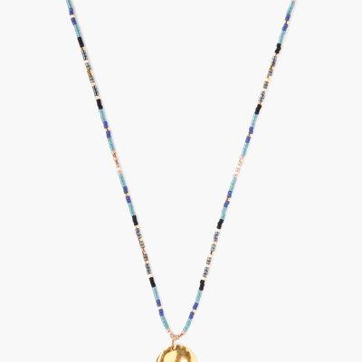 CHAN LUU Black Mix Seed Bead Charm Necklace